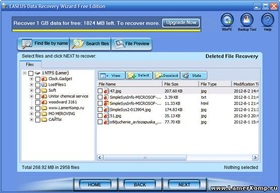 Data Recovery Wizard Free Edition