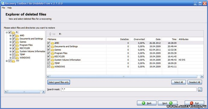 Recovery Toolbox File Undelete