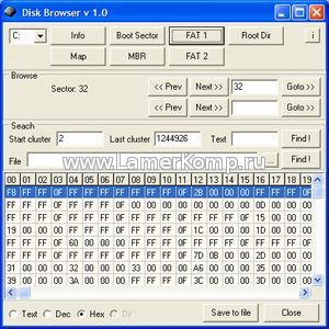 FAT Disk Browser