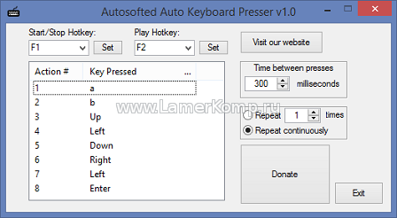 Autosofted Auto Keyboard Presser