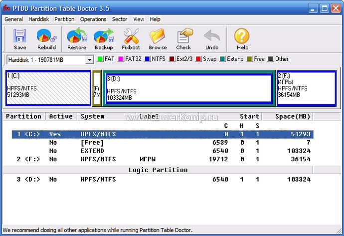 Partition Table Doctor