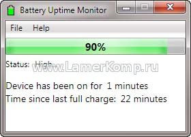 Battery Uptime Monitor