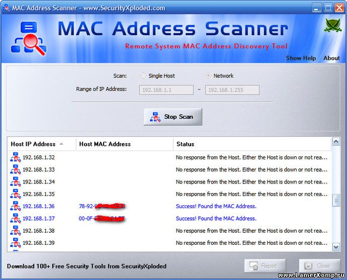 MAC Address Scanner