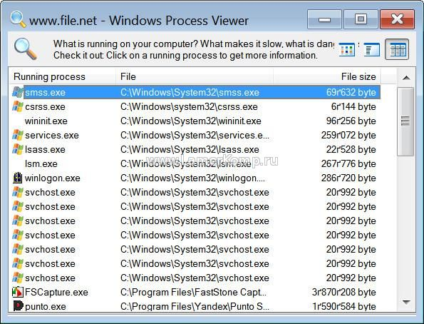Windows Process Viewer