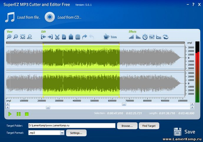 SuperEZ MP3 Cutter and Editor Free